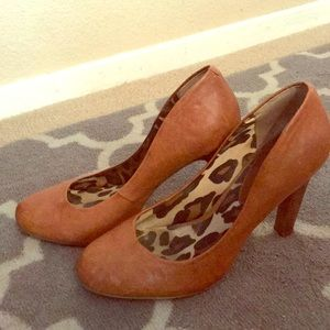 Cognac vintage leather pumps